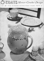 vintage milk jug cover crochet pattern 1940s coats 488