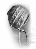 baby bonnet knitting pattern from 1920