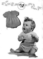 vintage baby knitting pattern for romper 1940s
