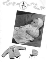 vintage knitting pattern for matinee set 1940s
