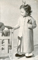 vintage knitting pattern for child's dressing gown