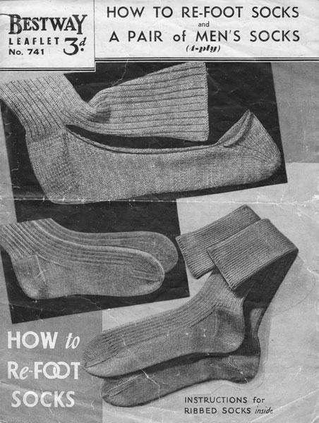 Vintage Knitting Pattern For Men's Socks
