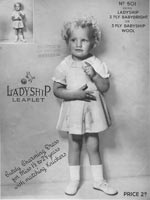 vintage baby kniting pattern dress 1930s