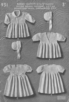 vintage wartime baby  silver knitting patterns patonsdresses and bonnets