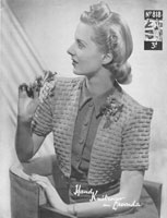vintage ladies bolero knitting pattern 1940s