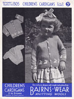 vintag childs fair isle cardigans 1940s