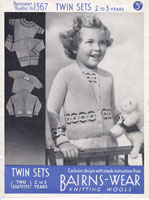 vintage childs cardigan knitting patterns 1940s