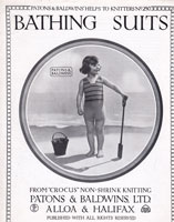 vintage girls swim suit bathing costume 1920s vintage knitting patterns