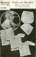 vintage baby vest knitting patterns