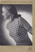 vintage knitting pattern with fair isle 1940s