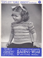 vintage girls fair isle jumper knitting pattern 1930s