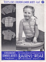 vintage girld fair isle cardigan knitting pattern 1940s