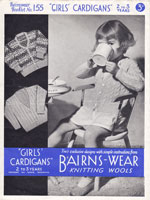 vintage girls or boys cardgan in gair isle 1940s knitting pattern