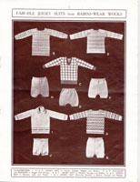 vintage boys suits with fair isle jumper 1920s
