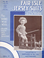 vintage boys suits 1920s knitting pattern