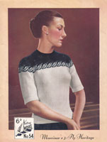 marriners fair isle jumper knitting pattern from 1940s