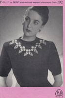 vintage ladies fair ilsle evening jumper knitting pattern from 1940s