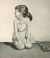 vintage knitting pattern for girls swim suit