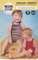 Vintage babies sunsuit knitting pattern