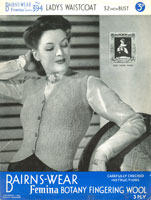 vintage ladies knitting patterns for waistcoat