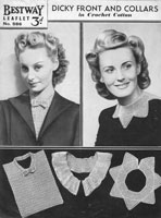 vintage collar crochet pattern 1940s