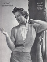 ladies cardigan in fuzzy wuzzy angora from 1930s patons 2662
