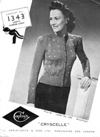 vintage ladies twinset knitting pattern 1930s copley1362