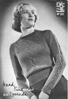 ladies knitting pattern from lavenda from the 1940s lavenda 565