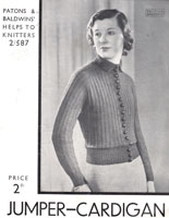 ladies 1930s knitting pattern from patons 2587