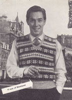 vintage mens fair isle tank top slipoever 1940s knitting patterns