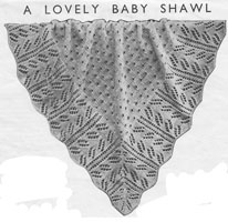 vintage baby knitting pattern for shawl 1920