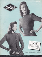 vintage ladies cardigan jumper knitting pattern 1940s
