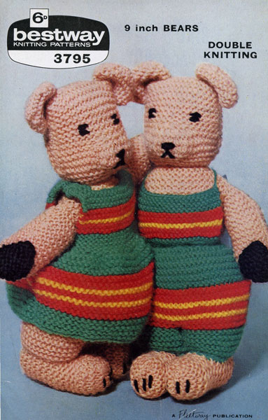 Vintage Teddy Bears and their Clothes knitting patterns ...