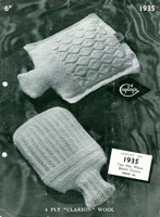 vintage hot water bottle cover knitting pattern